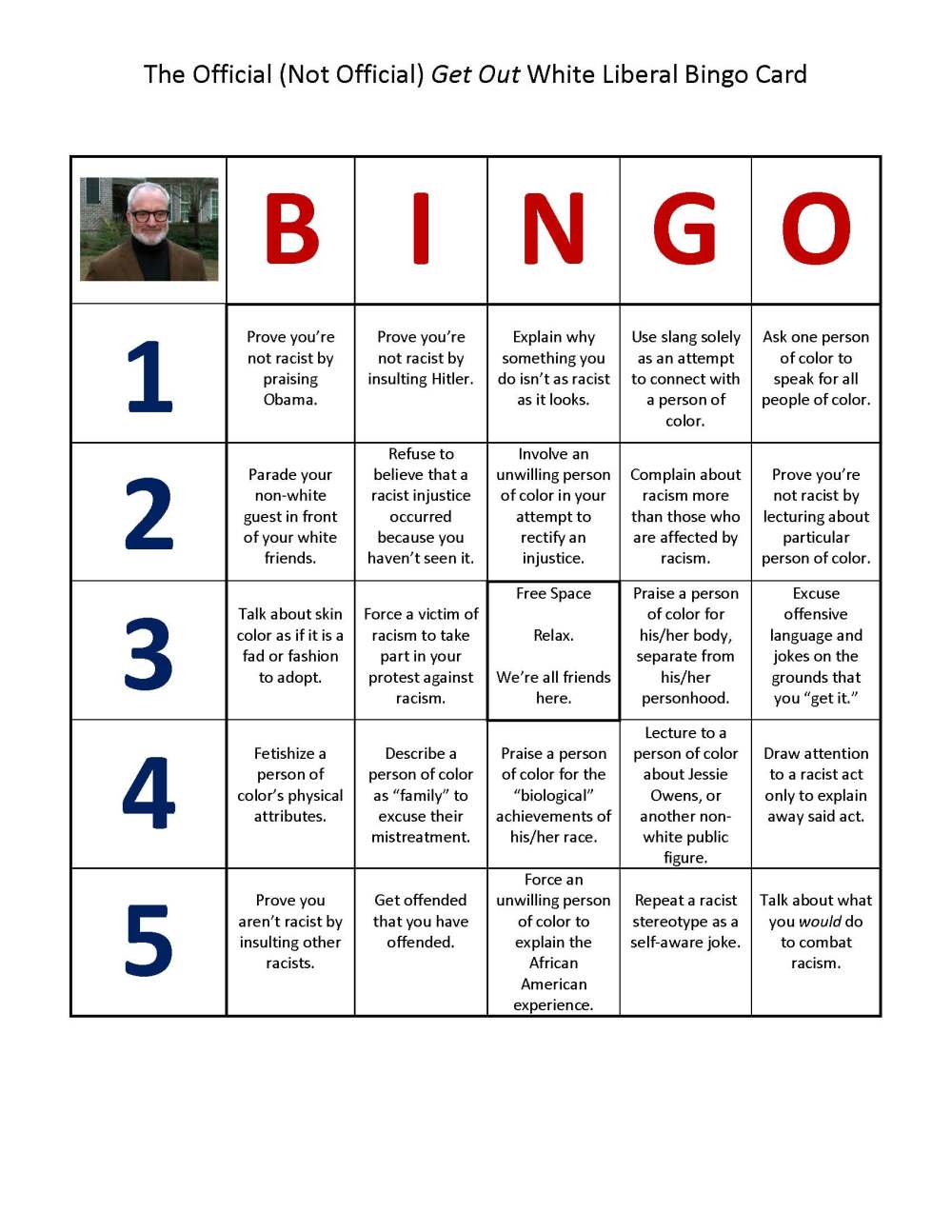 Get Out Bingo